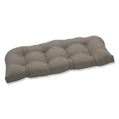 Pillow Perfect Indoor/Outdoor Taupe Textured Solid Wicker Loveseat Cushion