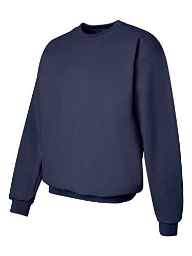 Hanes Men's Ultimate Heavyweight Fleece Sweatshirt, Navy, ()