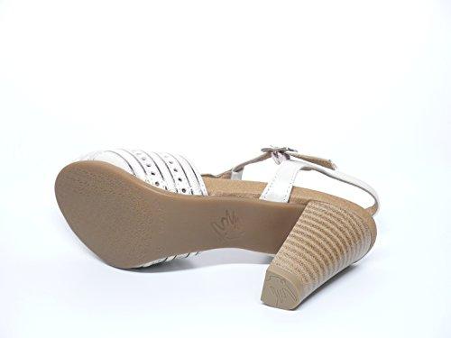 Sandalia mujer de la marca PITILLOS en Piel combinada Beige y Oro 1696 540 Beige