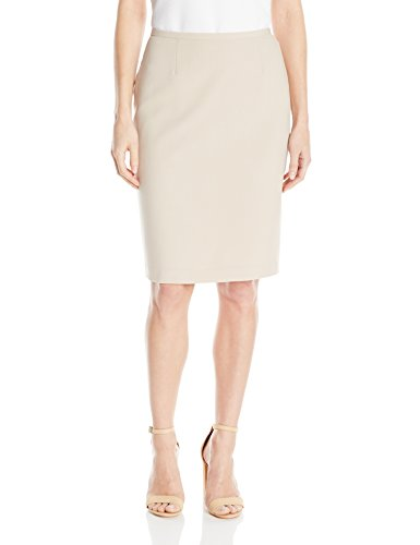 Calvin Klein Women's Lux Solid Pencil Skirt, Latte, 8