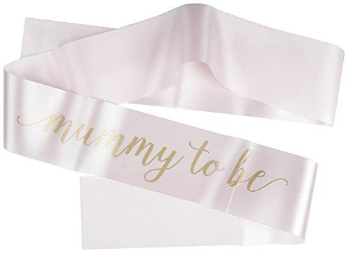 Team Hen Mummy to Be Baby Shower Sash (One Size), Ivory