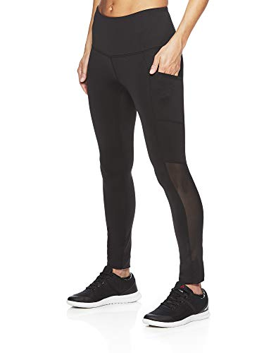 Reebok Women's High Rise Leggings Performance Compression Pants - Black Black, Small ()