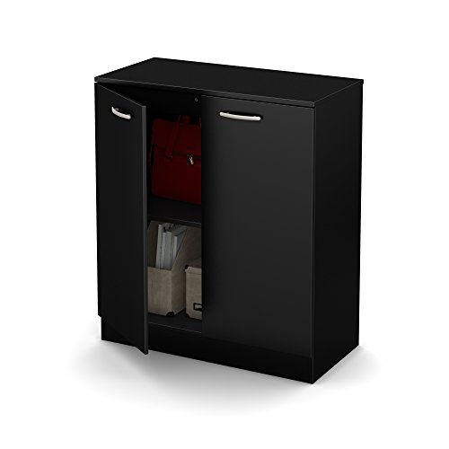 South Shore Axess 2-Door Storage Cabinet, Pure Black