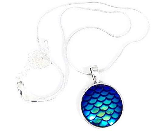 Pizazz Studios Blue Mermaid Scale Necklace