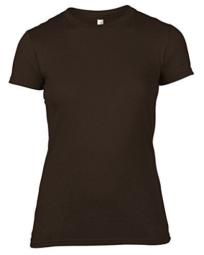 Anvil Women's Basic - Camiseta con manga corta para mujer Chocolate