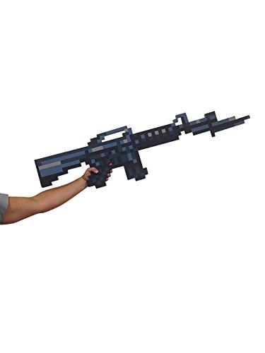 Black Machine Gun - 8 Bit Pixelated Foam Black Machine Gun Toy 48