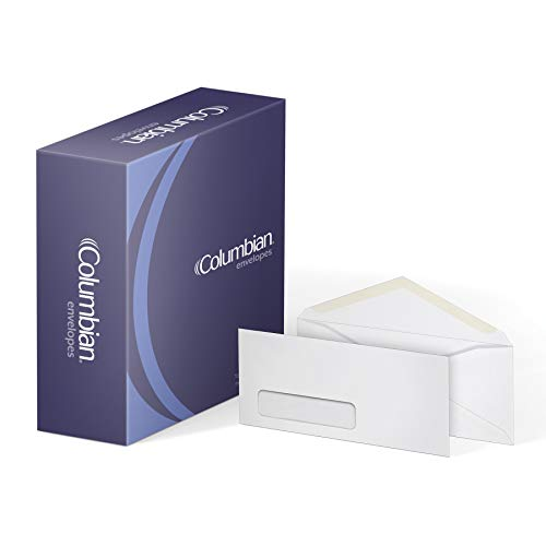 Columbian #10 Business Envelopes, Left Window, 4-1/8 x 9-1/2 Inch, 500 Per Box, White ()