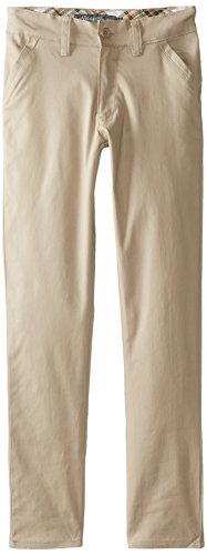 Eddie Bauer Girls' Twill Pant (More Styles Available), Soft Khaki, 7
