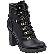 Women's Genja Heeled Lace Up Hiker Booties