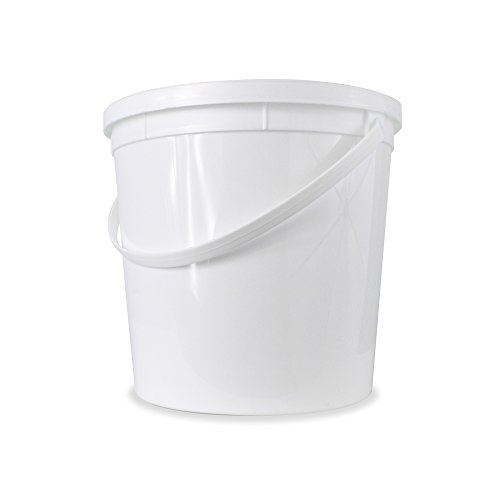 Food Grade 1.25 Gallon Bucket - 5 Pack With Lids