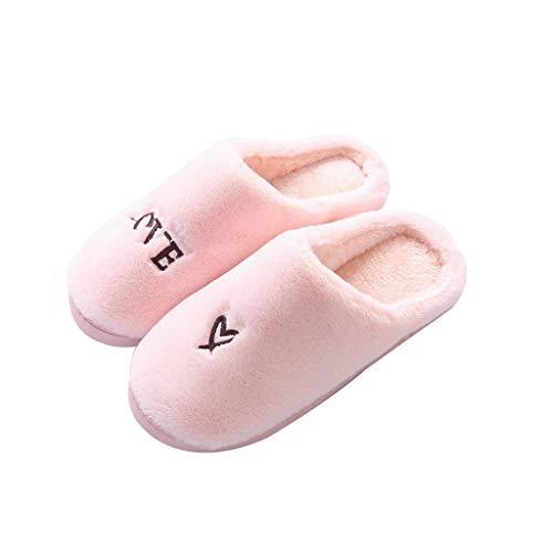 Pan Pantoufles Pour Hommes Femmes D'intérieur En Coton Ultra Légères Lavables (couleur : C, Taille Eur:42-43) A