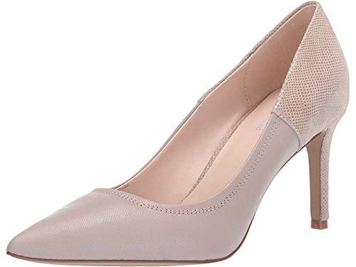 (Tahari Womens Peyton Pump Sand Leather/Snake 7.5 M)