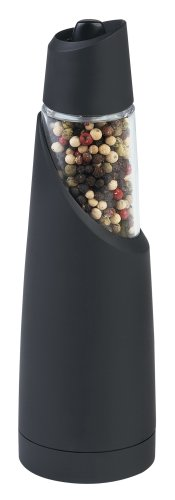 Trudeau Graviti Battery-Operated Pepper Mill, Black