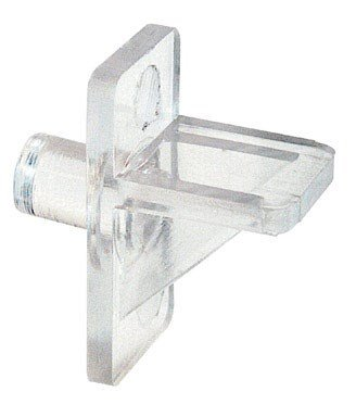 Slide-Co 241946 Shelf Support Peg, 1/4-Inch, Clear Plastic,(Pack of 12) (Clear Shelf Support)