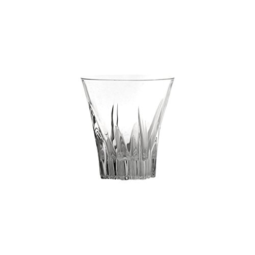(10 Strawberry Street Fluente 8 Oz Double Old Fashion Crystal Glass Tumbler, Set of 6)