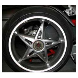 Wheel Stripes Rifrangent Bianco 5 mm x 6 mt con applicatore