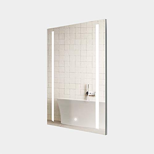 KAASUN LED Bathroom Mirror Wall Mounted 15x21 inches Energy Efficient Illuminated Anti-Fog Mirror with Touch Switch (Cool White - Vertical)