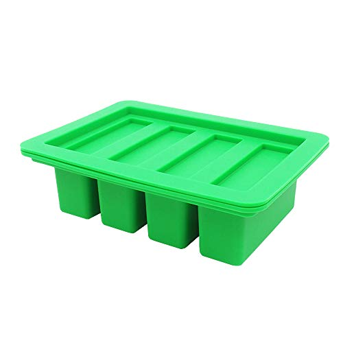YHSWE 1PCS Green Large butter Silicone container Rectangle butter Mold Soap Bar Storage Jar New