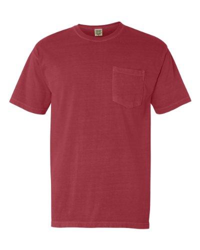 Comfort Colors Mens Pigment-Dyed Shirt 6030 - Small - Crimson (Pigment Colour)