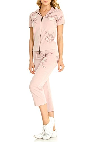 Embroidered Activewear Pant Set - 1