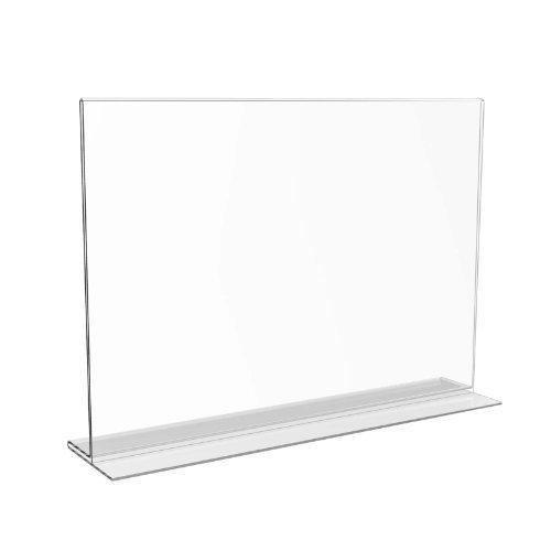 Displaypro - Espositore trasparente orizzontale su 2 lati, per menù o locandina, formato A4