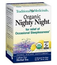 Price comparison product image Traditional Medicinals Organic Nighty Night Valerian Herbal Tea - 16 bags per pack -- 6 packs per case.