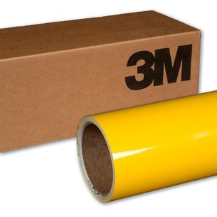 VViViD 3M Gloss Bright Yellow Vinyl Film Wrap 12' x 5ft Roll DIY Easy to Install Self-Adhesive 1080 series