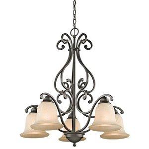 Kichler 43225OZ Camerena Chandelier 5-Light, Olde Bronze