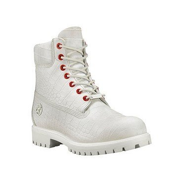 Timberland 6 Inch Premium Men's Boots White Exotic tb0a1p9q (9.5 D(M) US)