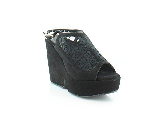 Robert Clergerie Women's Danat Black Lace Wedge
