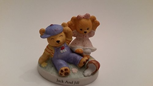 1995 Bronson Collectibles: Nursery Rhyme Bears: Jack and Jill: Cute little teddy bears figurine (Preowned)