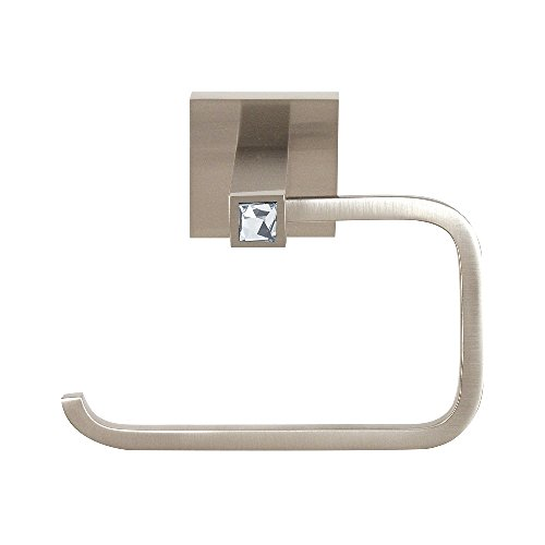 - Alno C8466-SN Contemporary II Crystal Modern Tissue Holder, Satin Nickel