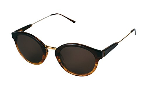 Petite Size Vintage Style Round Sunglasses (Havana Brown, Brown) by - Ro Sunglasses