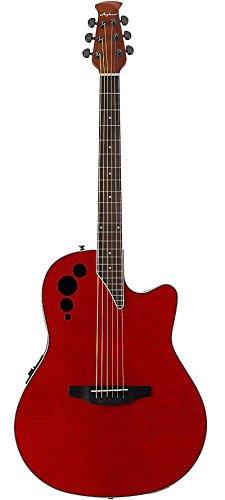 Applause Elite Series AE44IIP Acoustic-Electric Guitar Transparent Black Flame