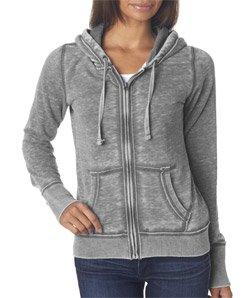 ens Ladies Zen Full Zip Hooded Sweatshirt, Dark Smoke Gray, XX-Large (Ladie Full Zip Hoody)