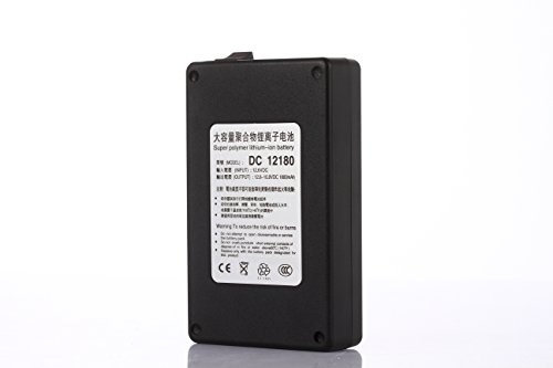 ABENIC Fireproof DC 12V 1800mAh Super Rechargeable Protable Li-ion Lithium Battery DC12180 (Black)