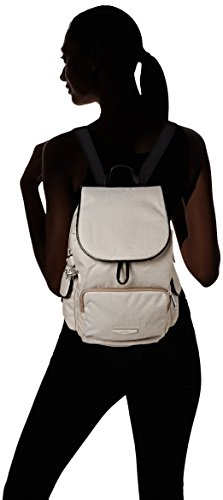 Backpack Womens Pack Kipling woven Cream S Cream City Kc Woven Beige BTwqqXUd