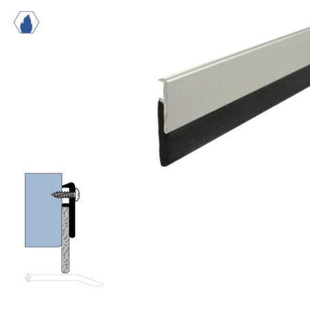 Fire Rated/Clear Anodized Aluminum Door Sweep with Neoprene Rubber Extrusion (7933CA) in (42''), SMS #6 x 1/2'' Supplied