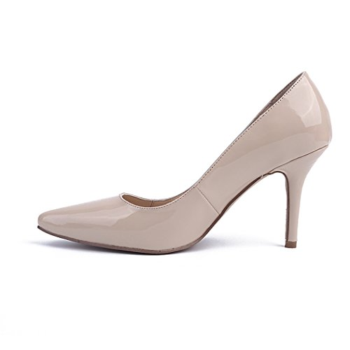 On Evening Slip Women's Occasion MA04169 Beige Pumps Fashion TDA Party Wedding nZwq8gdx