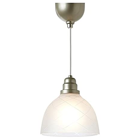 Ikea sder etched glass pendant lamp amazon ikea sder etched glass pendant lamp aloadofball Gallery