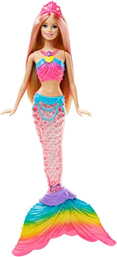 Barbie Rainbow Lights Mermaid Doll (Barbie Dolls Then And Now)