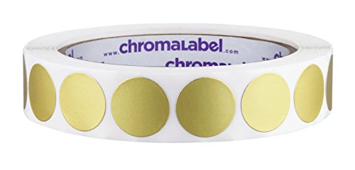 ChromaLabel 3/4 inch Color-Code Dot Labels   1,000/Roll (Metallic Gold)