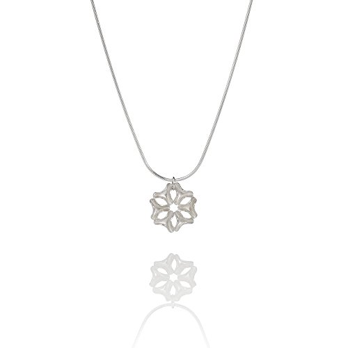 Icelandic Design Sterling Silver Necklace from the Aurum by Guðbjörg DRÍFA Collection (Small) Handcrafted in Reykjavik from Sustainable Materials by Aurum by Guðbjörg Jewellery