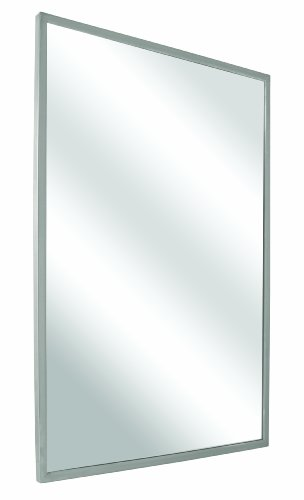 Bradley 781-018240 Roll-Formed Channel Frame Float Glass Mirror, 18
