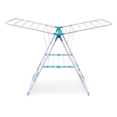 Bathla Mobidry Eze - Foldable Clothes Drying Stand with Weather Resistant Frame (Blue)