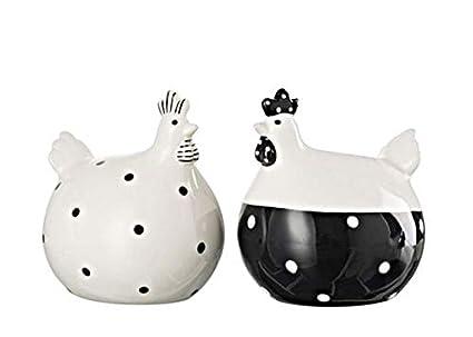 J Line Poule 2018 Ceramique Blanche Noire Bistrot Lot Neuf De 2