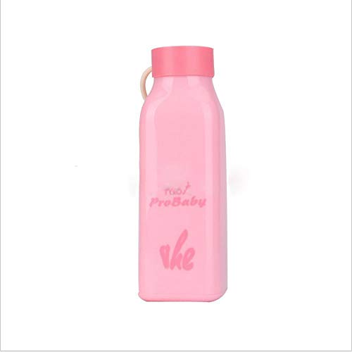 HOT New creative square cup fashion glass plastic shell glass cup gift milkshake bottles shaker bottle sports water- Kitchen tools for women, men and ()