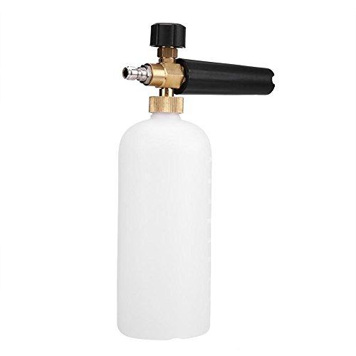 Pulverizador de espuma ajustable, 1/4 pulgadas, espuma de nieve, arandela de lanza arandela de 1 litro, boquilla de lavado de...
