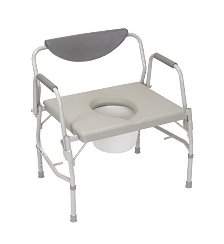 Drive MCK11353300 - Commode Chair Drop-Arm Steel Padded B...