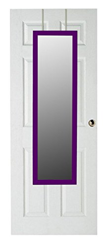 UPC 886466470065, Home Basics Over The Door Full Length Rectangle Mirror (Purple)